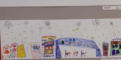 Ogres slimnīcā ir apskatāmi bērnu zīmējumi